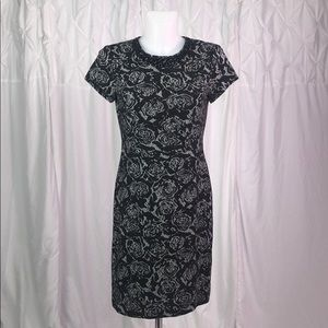 Black and Gray Floral Karl Lagerfeld Dress Sz 4